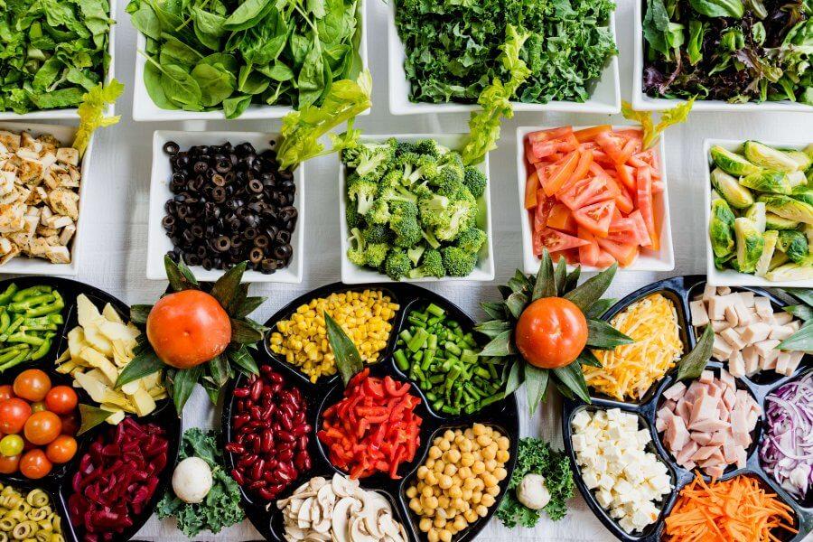 Разнообразный рацион при правильном питании