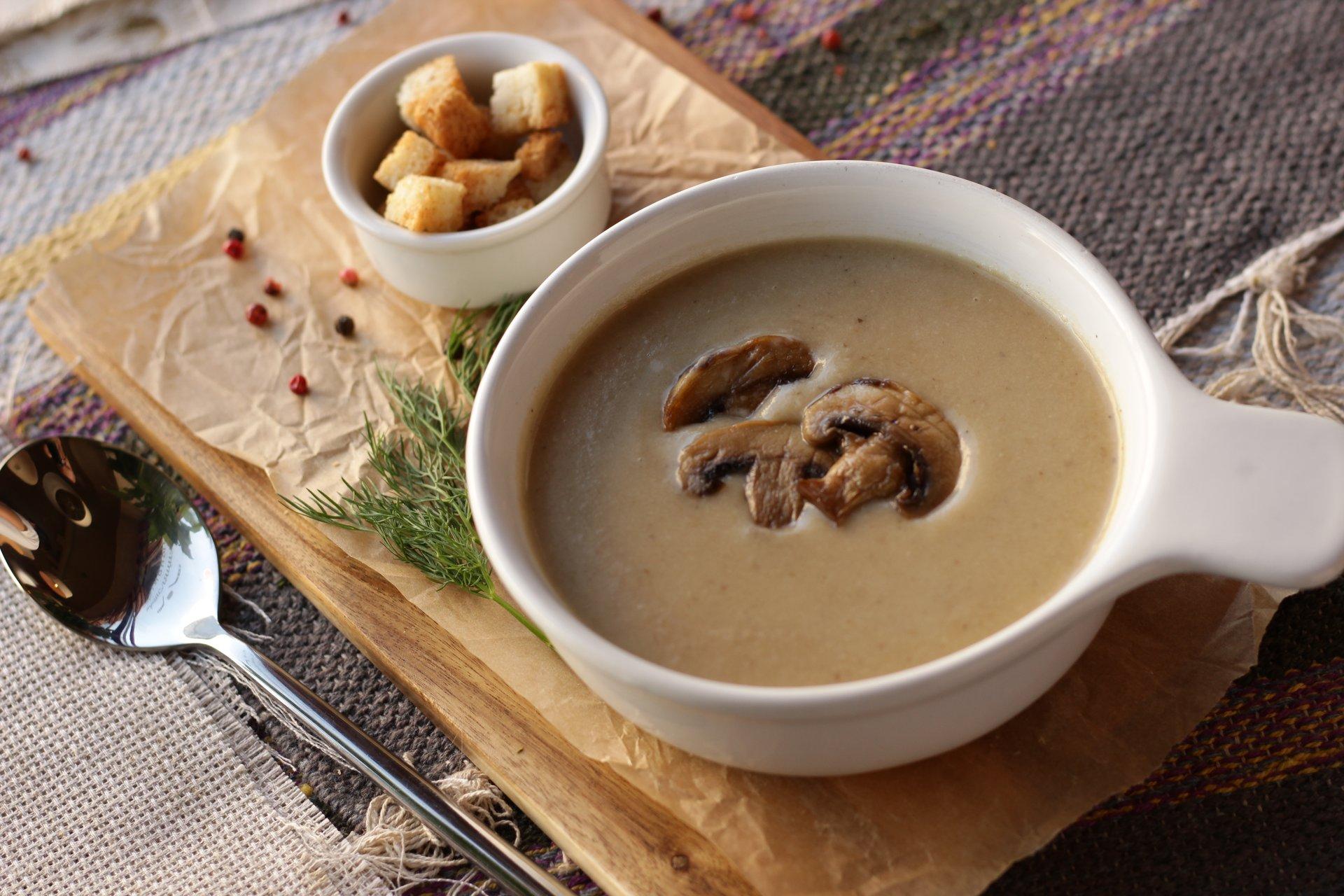 грибной крем суп из сливок