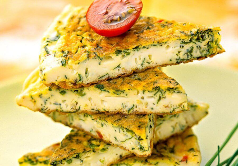Лепёшка с творогом и сыром