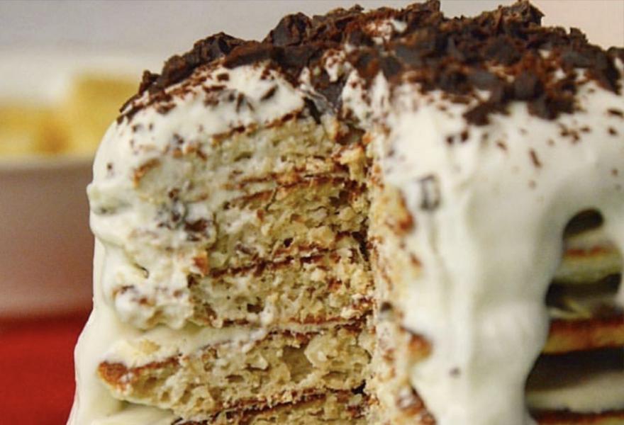 Мини-тортик из банановых оладушек