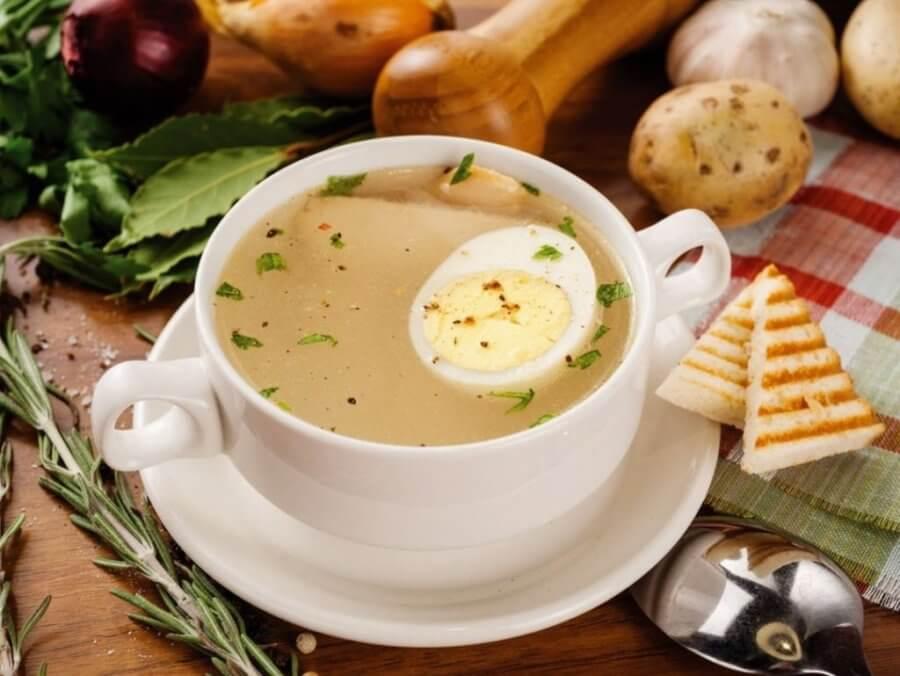 Яичный суп на обед