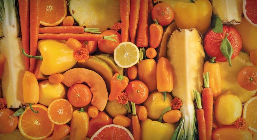 Большое количество бета-каротина находится в продуктах оранжевого цвета
